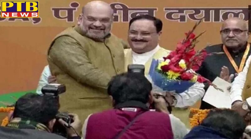 jp nadda commanded bjp elected 11th national president unopposed