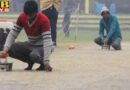 cricket pitch was dry by iron press before bcci cricket match in kanpur