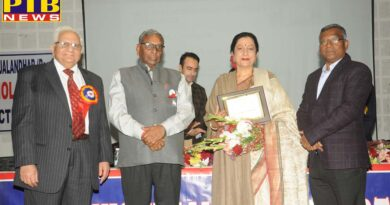 Prof. (Dr.) Atima Sharma Dwivedi, Principal, KMV Awarded for Excellence in Education