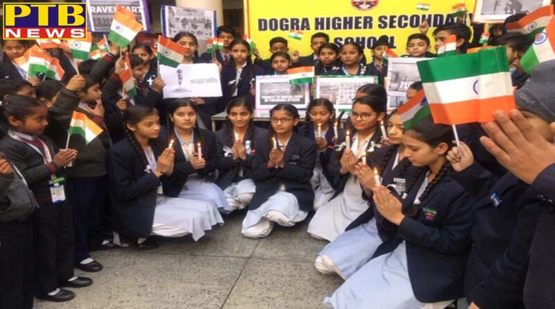 School children pay tribute to the soldiers killed in the attack India