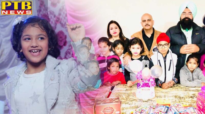 Akali leader set a new example Celebrate your daughter's birthday with the children of Unique Home Jalandhar