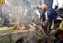 sangrur school van become tandoor due to leak in petrol tank and intification of children burnt alive difficult PTB Big Breaking News
