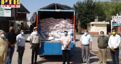 Jain brotherhood distributed 600 bags of flour and 550 kg of pulses to the hungry