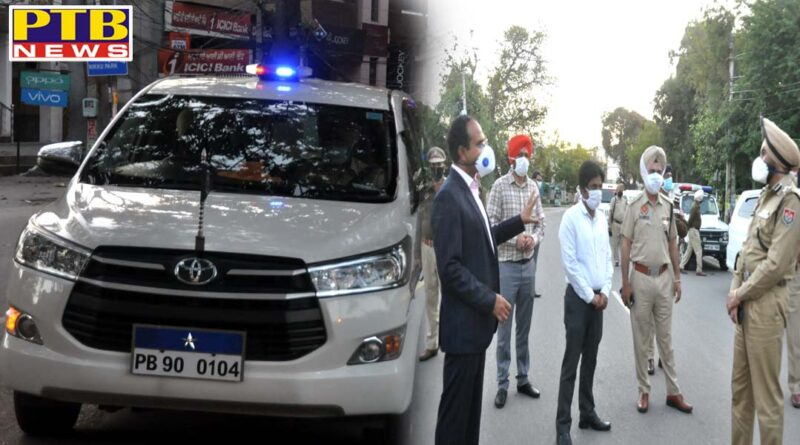Jalandhar collector and police commissioner, along with ADCP, DCP, ACP, took out flag march in the city