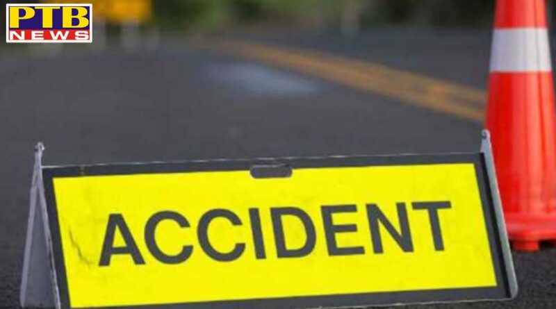 Car flies in painful road accident in Amritsar Mother and 6 month old child died Punjab