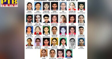 Students of different schools of dips chain buried flags in CBSE Class 12 results
