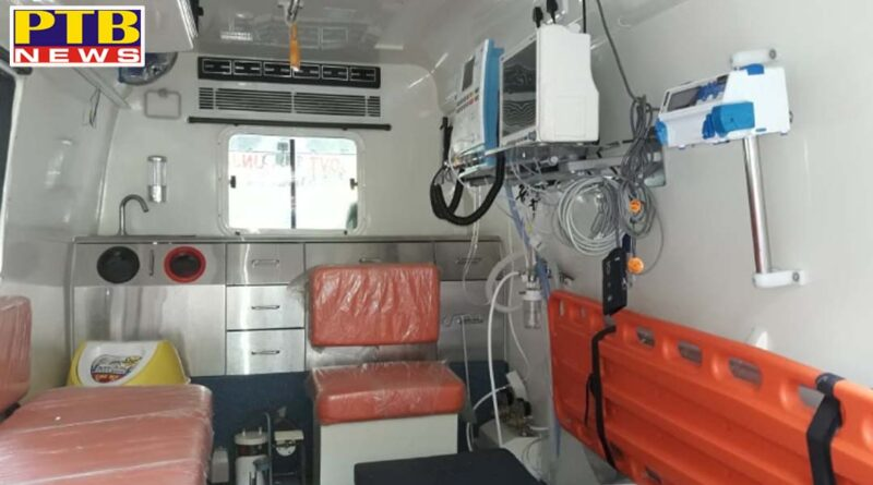 Administration installs high-tech and life-saving equipment in Civil Hospital's ambulance Ambulance would be instrumental in saving precious lives-Deputy Commissioner Ghanshyam thori