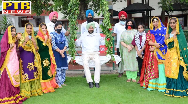 Teej festival celebrated with social distancing amidst Corona Virus at Laylpur Khalsa College Jalandhar PTB Big Breaking news