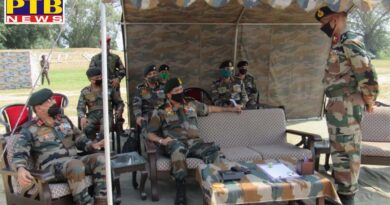 Lieutenant General RP Singh Army Commander western command visits jalandhar beas and suranassi military stations