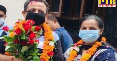 Pema Pradhan Surinder Pal won the battle from Corona, journalist brotherhood welcomed with flowers Jalandhar Punjab PTB Big Breaking News