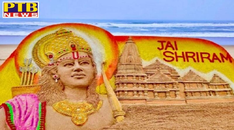 shriram appeared on the beach lords amazing appearance amidst the waves artist created by sand artist sudarshan patnaik PTB Big Breaking News