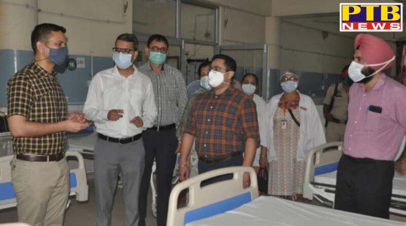 dc Jalandhar khanshyam thori takes storck of upgraded icufor level-III covid patients