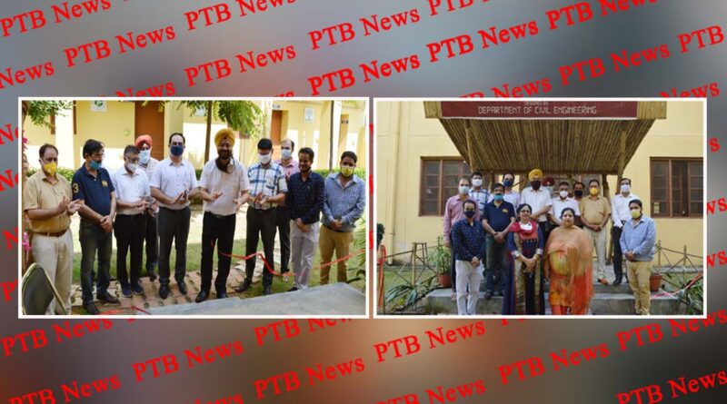 students of Mehr Chand Polytechnic together prepared a bamboo hut Jalandhar