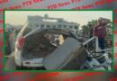 blade of crane entered into the body of young man in road accident Chandigarh