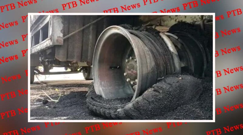 gopalganj bike container burned down after contact with high tension wire at gopalganj in bihar PTB Big Breaking News