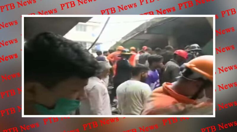 three storied building collapses in patel compound area in bhiwandi thane in maharashtra PTB Big Breaking News