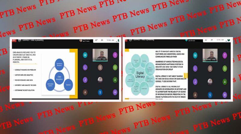 Deptt of Innocent Hearts Organized International Webinar on IT skills for Management