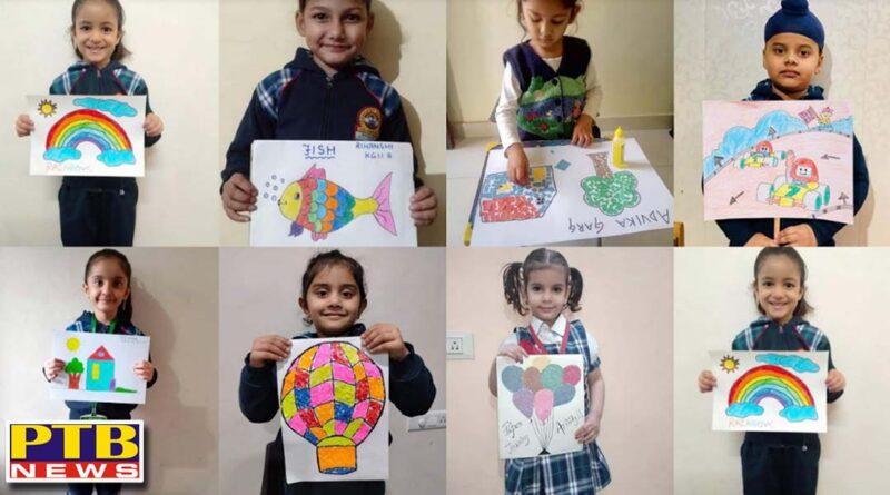 The Pre-Primary School organized online activities for the little ones Jalandhar Innocent Heart School