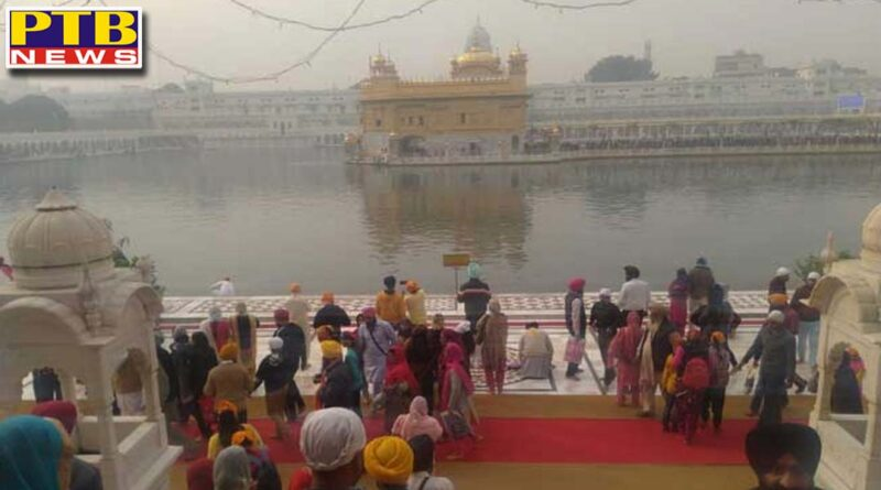 brightness of deepawali in gurunagari amritsar and influx of devotees in sri harimandir sahib