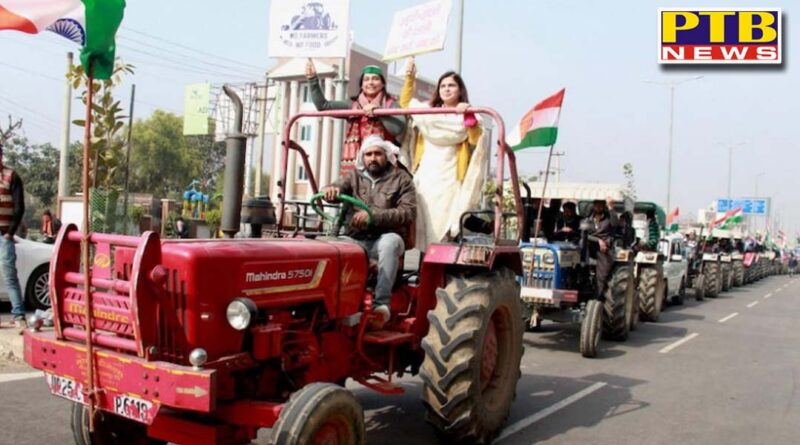 tremendous preparations for parade lines of tractors started from kundali border to ambala delhi