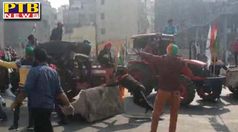 farmers protest tractor march delhi police tusse route issue Kisan Rally Republic Day