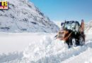 both sides of rohtang atal tunnel buried in snow bro engaged in restoration of manali keylong road