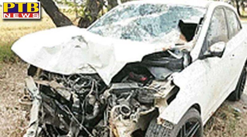 one person dead in road accident in jalandhar Phillaur Village Apra Punjab