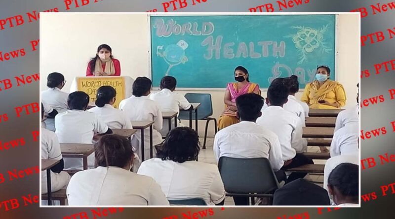 World Health Day by GNM Students of St Soldier Nursing Training Institute Khambra