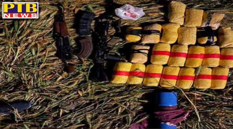 amritsar border bsf killed pakistani intruder and seized 2 ak47 and 22 kg heroin Punjab
