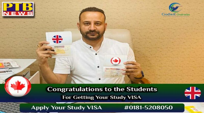 Students are impressed with the best services of this famous Immigraion Company of Jalandhar Godwit Overseas Immigraion has Canada Study Visa Dharamvir managing director Jalandhar