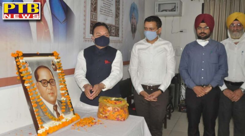 MP, MLA AND DC ghanshyam Thori EXHORTSYOUTH TO STRENGTHEN THE ETHOS OF DEMOCRACY AS AREAL TRIBUTE TO DR. AMBEDKAR Ji Jalandhar Punjab