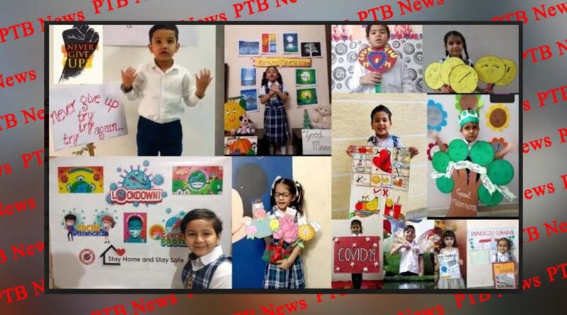 Students of INNOKIDS gave message Never Give Up by their poems
