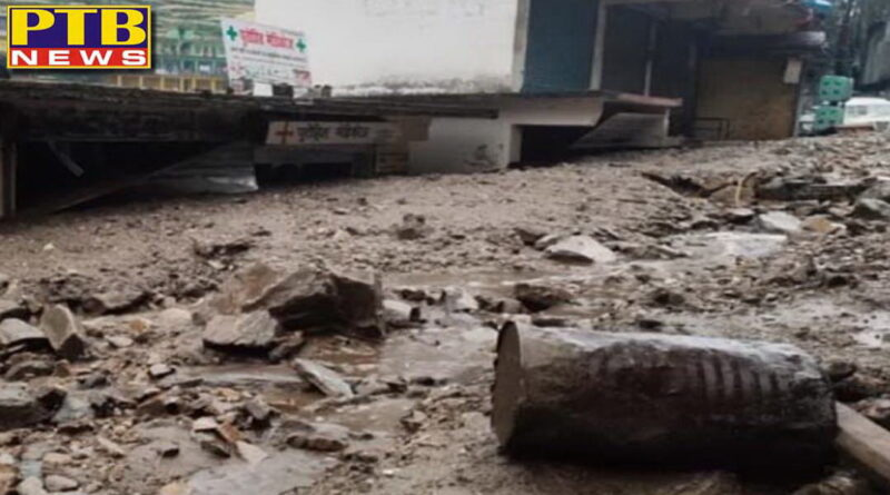 cloudburst in uttarakhand chamoli devastation roads broken many houses and vehicles buried under debris