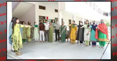 The Faculty and Students of HMV Collegiate Sr. Sec. School took the pledge to 'Keep Jalandhar Plastic Free
