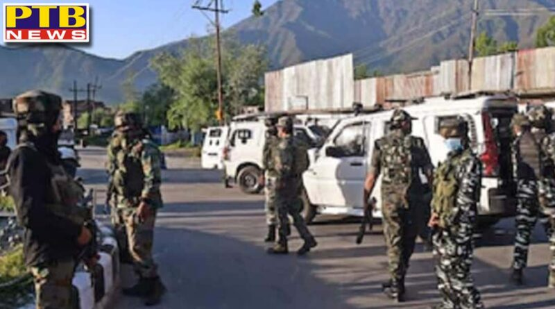 Terrorists attack a joint team of police and CRPF at naka in Arampora Sopore Jammu Kashmir PTB Big Breaking News