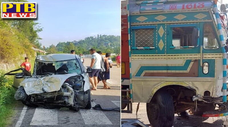accident in mandi truck and car collision driver dead 5 injured Himachal Pardesh
