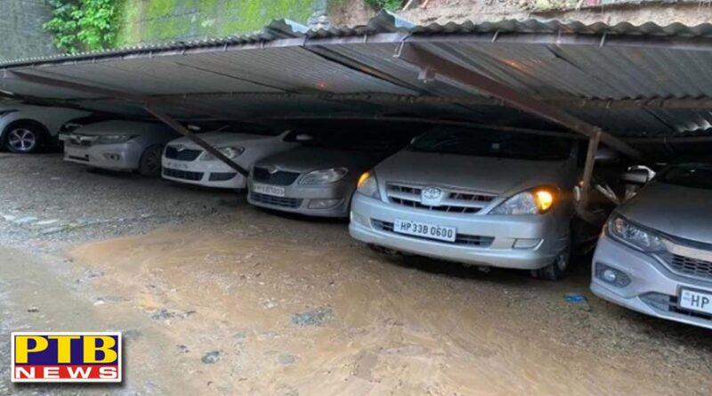 himachal pradesh parking roof collapsed in mandi national highway closed in sirmaur mandi PTB Big Breaking News
