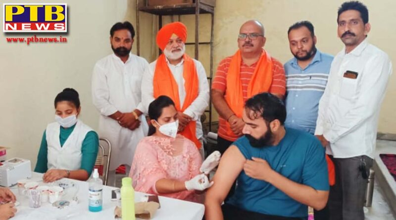 On behalf of Khil Bhartiya Sai Army, around 200 people got the vaccine at the vaccination camp in Guru nanak Pura Jalandhar
