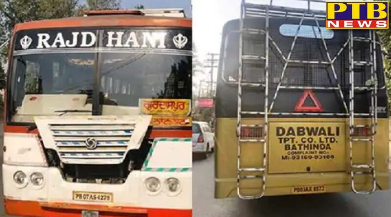 action on 8 buses in amritsar and 25 buses in gurdaspur that did not collect tax