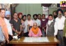 Satnam Singh Manak became the President of Punjab Press Club with an overwhelming majority Former President Dr. Club report read by Lakhwinder Singh Johal Punjab Jalandhar
