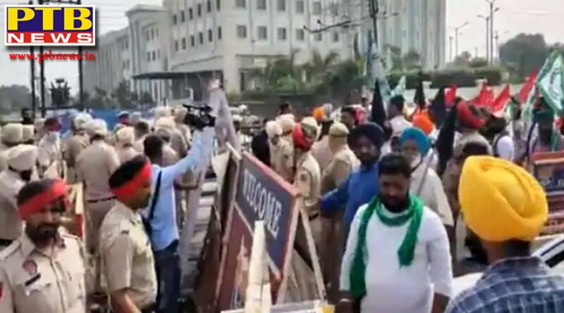 jalandhar farmers gathered with black flags the agitated protesters said they would have allowed the tears of the lakhimpur violence victims to dry up Jalandhar