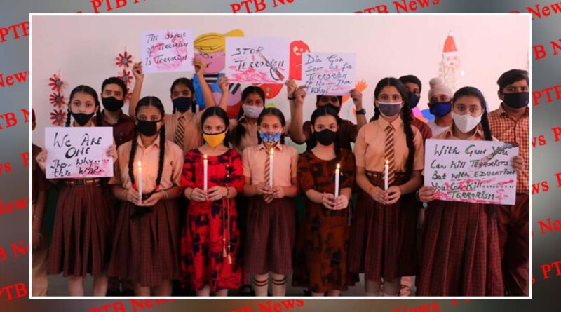 St. Soldier students pay tribute to the brave soldiers martyred in Poonch