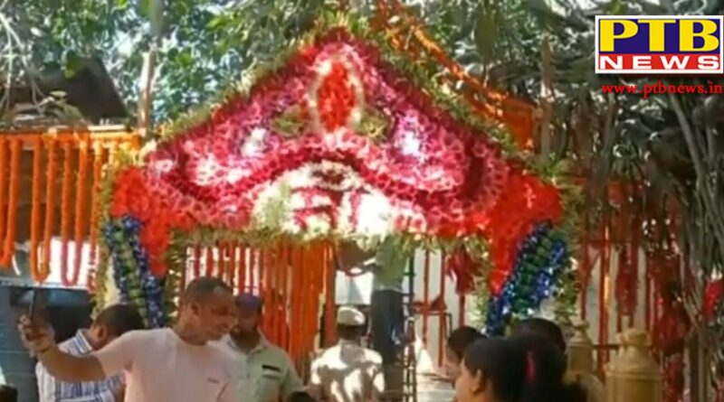 himachal pardesh navratra maa chintpurni temple decorated like a bride best arrangements for navratra PTB Big Breaking news